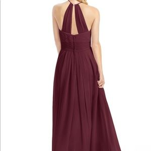 Azazie Ginger Bridesmaid Dress Cabernet size A4